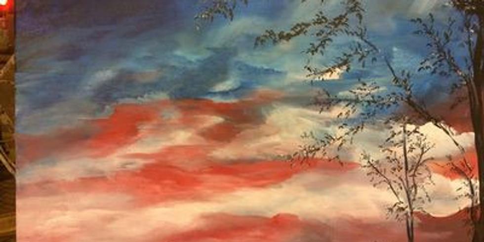 Paint & Sip - Patriotic Sunset