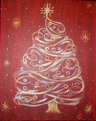Holiday Swirly Tree