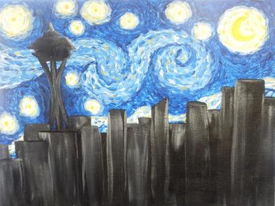 Seattle Starry Night