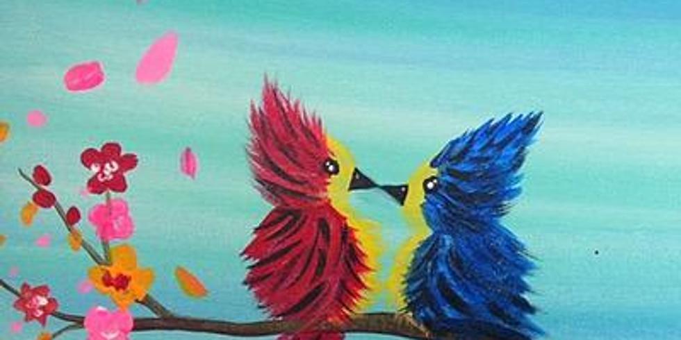 Paint & Sip - Spring Birds