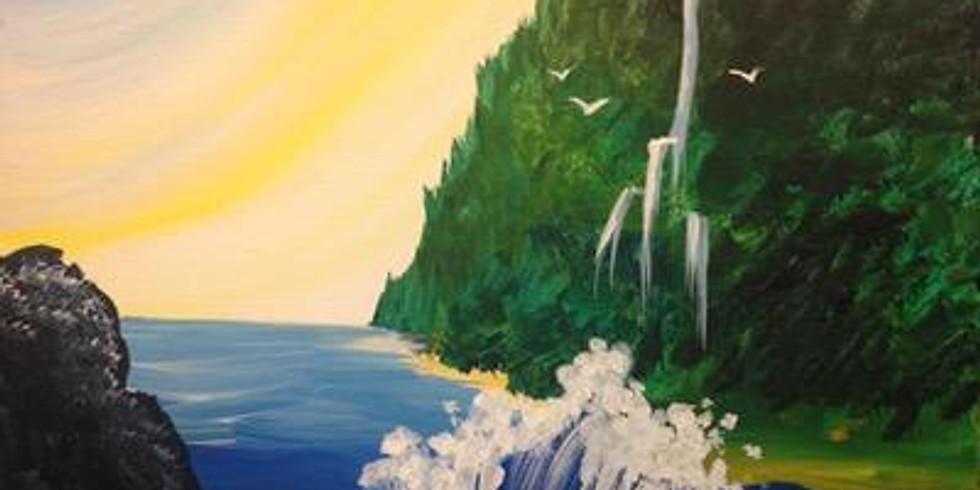 Paint & Sip -  Kauai Waves
