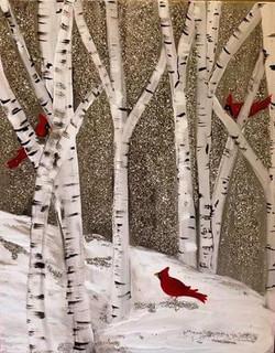 Glitter Cardinals