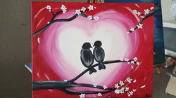 Valentines Love Birds