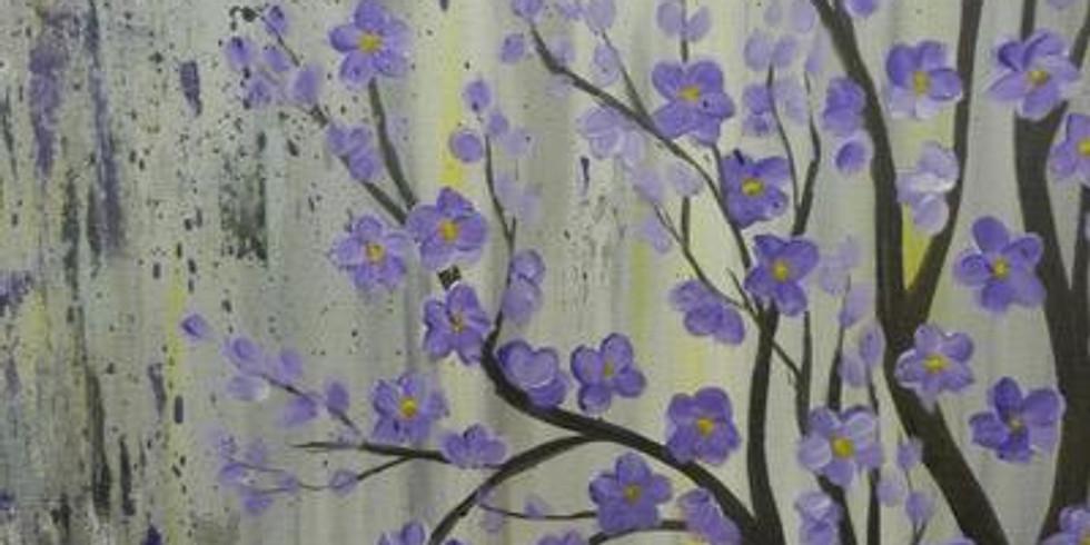 Paint & Sip - Purple Blossoms