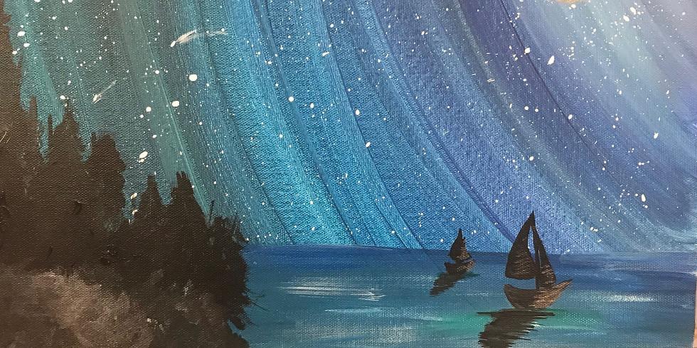 Virtual Paint & Sip - Starry Sails