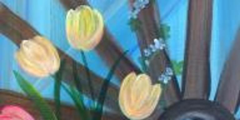 Paint & Sip - Tulip Wheel