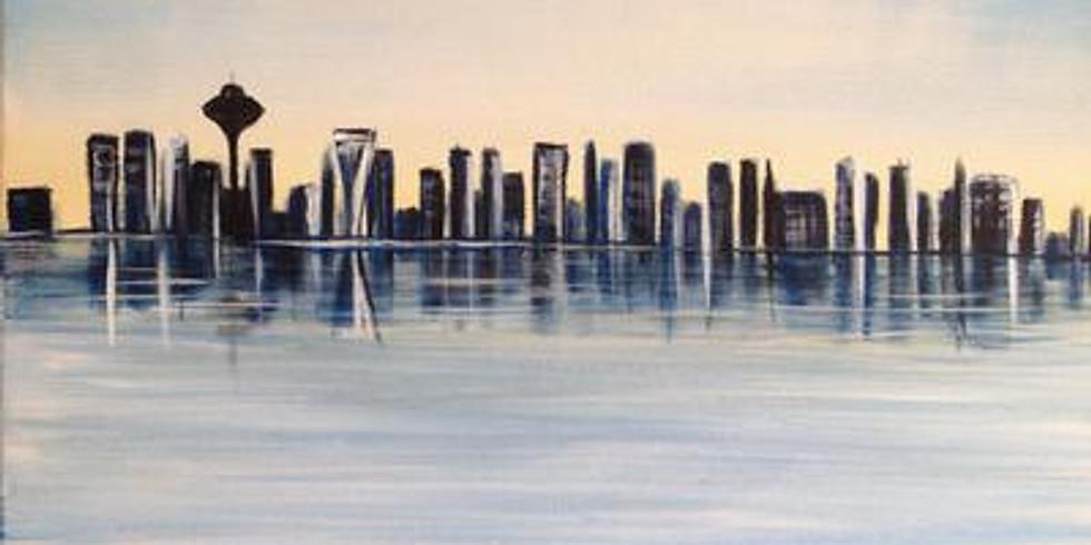 Paint & Sip - Seattle Silhouette