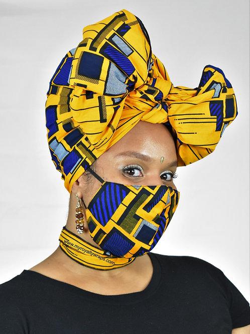 Mega Head Wrap Mask and Choker Set