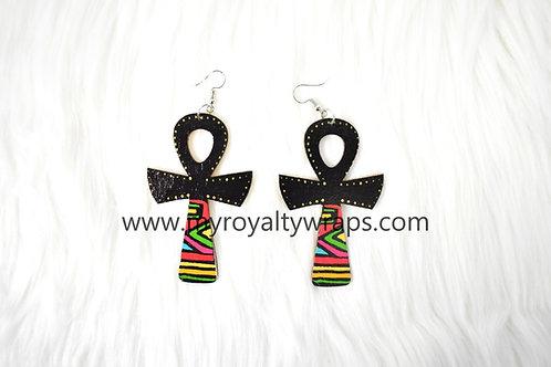Afro Anhk Earrings