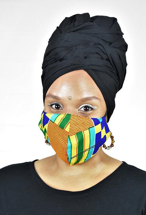 Kente face cover
