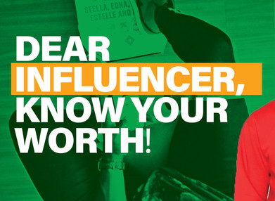 Dear Influencer, Know Your Worth!