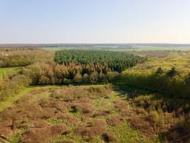 Photo par drone du parc d'une propriété près d'Angoulème, en Charente 36.