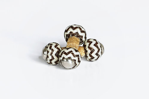 Cufflinks Brown and White