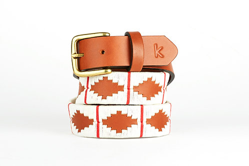WHITE RED, Argentina Polo Belt, Cognac leather, Unisex