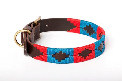 Dog collar Bue Red