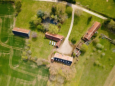 Photo par drone pour agence immobilière en Berry à Châteauroux Indre 36