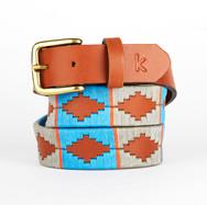 er belt from Argentina Blue Grey Orange