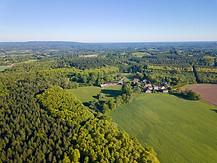 Photo par drone d'un domaine de chasse et propriété à Limoges Haute Vienne 87