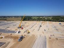 Photo pilote drone suivi chantier BTP