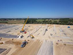 Photo par drone d'un suivi de chantier près de Tours