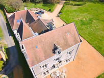 Beaufort Drone photo suivi chantier travaux toiture Berry Indre Cher Chateauroux Vierzon Bourges