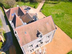 e de château par drone à Poitiers dans la Vienne 86