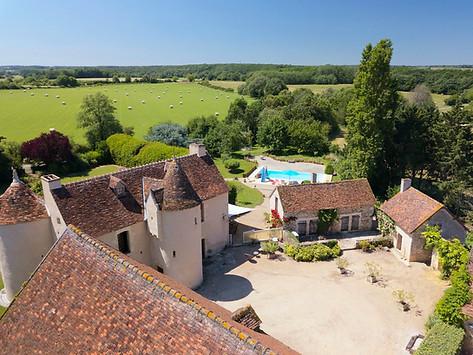 Gîte de France dans l'Indre 36 photo par drone près de Châteauroux