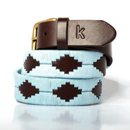 Polo gaucho leather belt from Argentina Blue Sky