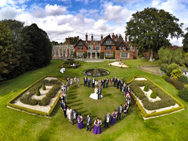 Exemple de photo par drone pour un mariage