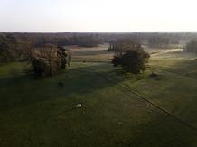 Levé de soleil vu par drone à Poitiers
