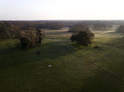 Photo d'un levé de soleil vu par drone à Poitiers, dans la Vienne 86