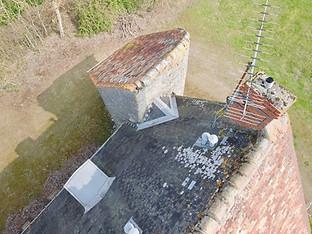 Beaufort Drone photo lors d'une inspection ouvrage et batiment toiture Limousin Limoges