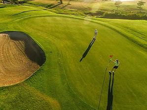 Exemple de prise de vue aérienne par drone d'un parcours de golf