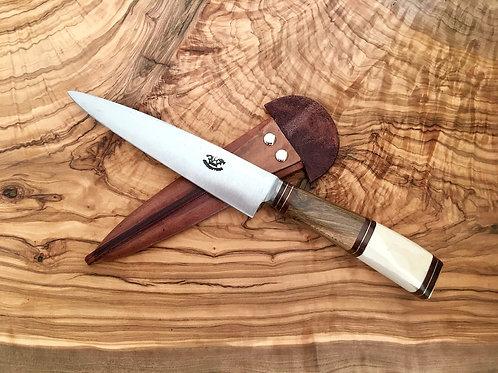 Bois et Os Lame carbone 14 cm Couteau gaucho argentin