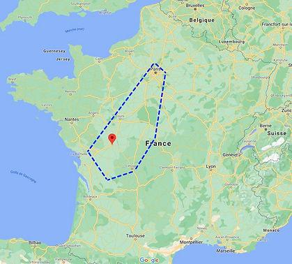 Zone intervention photo vidéo panorama 360° par drone. Principalement à Poitiers, Tours, Châteauroux, Limoges, Angoulême, Niort et Paris.