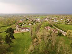 Beaufort Drone photo aérienne village en Berry Chateauroux La Chatre