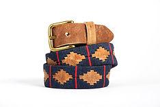 Collection Kamyno de ceinture de polo en cuir et cuir cru brodé d'Argentine, entièrement fait main. Modèles Homme et Femme.