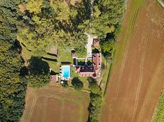 Photo par drone de chambres d'hotes dans l'Indre 36 Berry Châteauroux