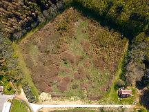 Beaufort Drone suivi de parcelle en vue de son aménagement paysage expertise forestière urbanisme travaux propriété domaine de chasse Poitiers Vienne