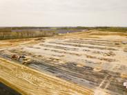 Prise de vue par drone d'un chantier BTP à Poitiers, Vienne 86