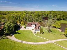 Beaufort Drone photo aérienne d'une propriété à Limoges pour une agence immobilière gîte et chambre d'hôte