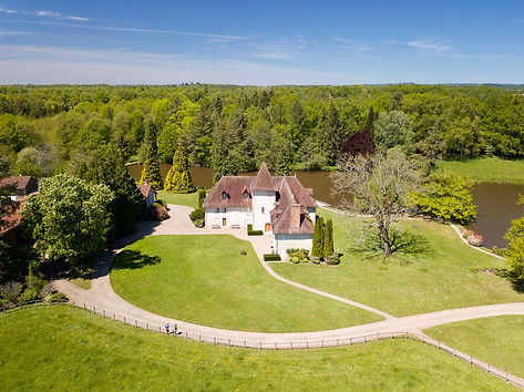 Beaufort Drone photo propriété Gîte chambres d'hotes Limoge Limousin