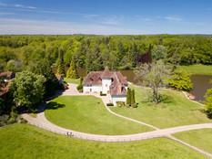 Photo par drone d'une propriété Gîte chambres d'hôtes à Limoges Haute Vienne 87