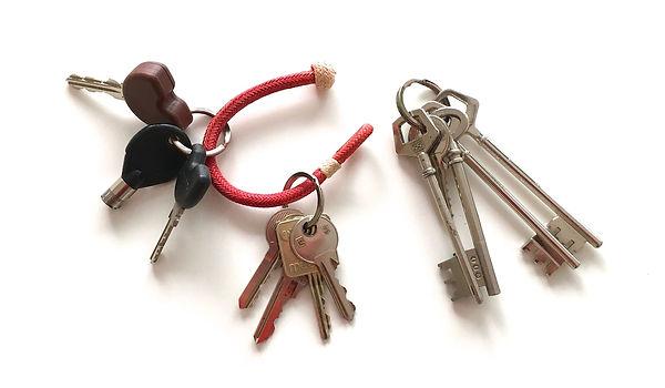 Kamyno multi bunches raw leahr key rings