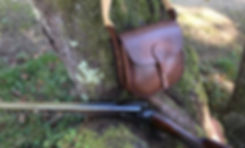 Cartouchière en cuir pour fusil de chasse, centenance environ 70 cartouches