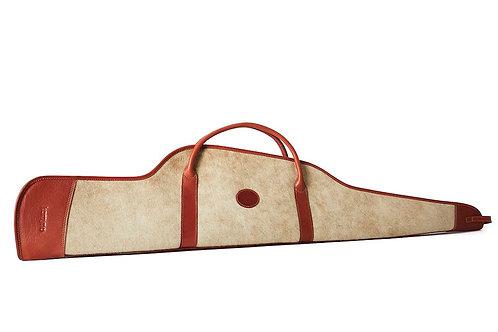 Lined zip Rifle leather sheath