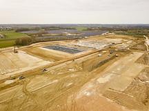 Vue d'ensemble d'un chantier BTP par drone à Poitiers