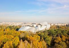 Photo Beaufort Drone Bois de Boulogne Paris Fondation Louis Vuitton