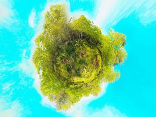 Photo sous bois panorama spherique 360° par drone, Limoges Haute Vienne 87