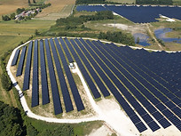 Photo drone parc photovoltaique Poitiers